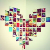 Heart picture collage