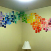 rainbow swatches rainbow chevron dorm - Dorm Wall Decor