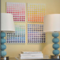dorm paint chip crafts - Dorm Wall Decor