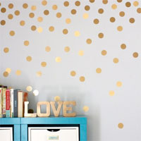 tree dorm wall polka dot dorm - Dorm Wall Decor