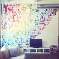 rainbow swatches rainbow swatches - Dorm Wall Decor