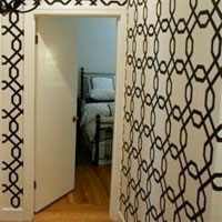 Patterned temporary wallpaper