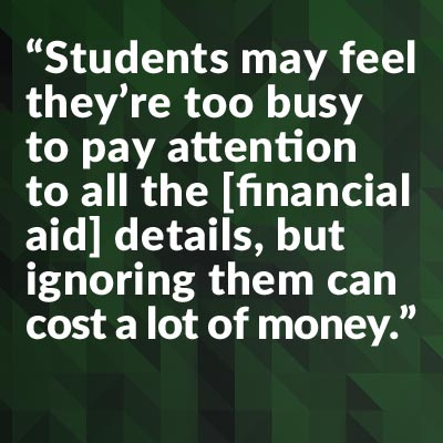 Do I have to owe financial if I apply college online ?