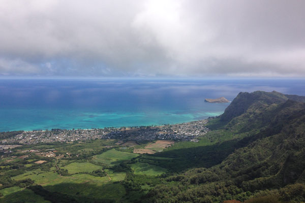 View from the end of the Kuli`ou`ou Ridge Trail overlooking the eastern side of Oahu