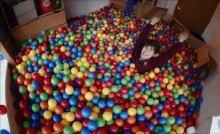 Rice University ball pit