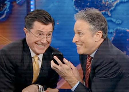 Jon Stewart and Stephen Colbert