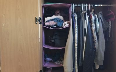closet shelve organizer