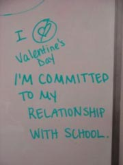 Grad research Valentine's Day