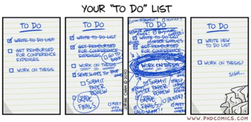 Grad research to-do list