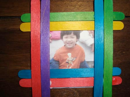 Popsicle-stick frame