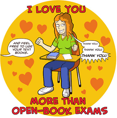 Open book Valentine