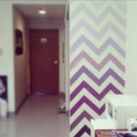 Chevron dorm wall