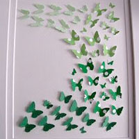 Dorm Paint Chip Crafts Butterfly Paint Chip Decor