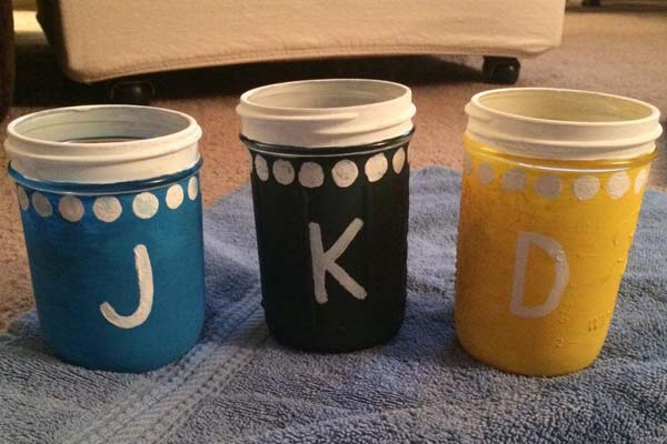 Painted jars by Kelsey Forman