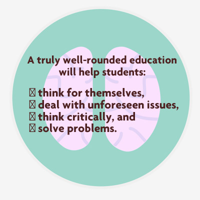 value of well rounded education