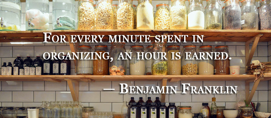 Benjamin Franklin organization quote