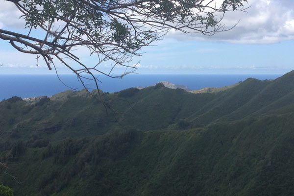View from the halfway point of the Kuli`ou`ou Ridge Trail