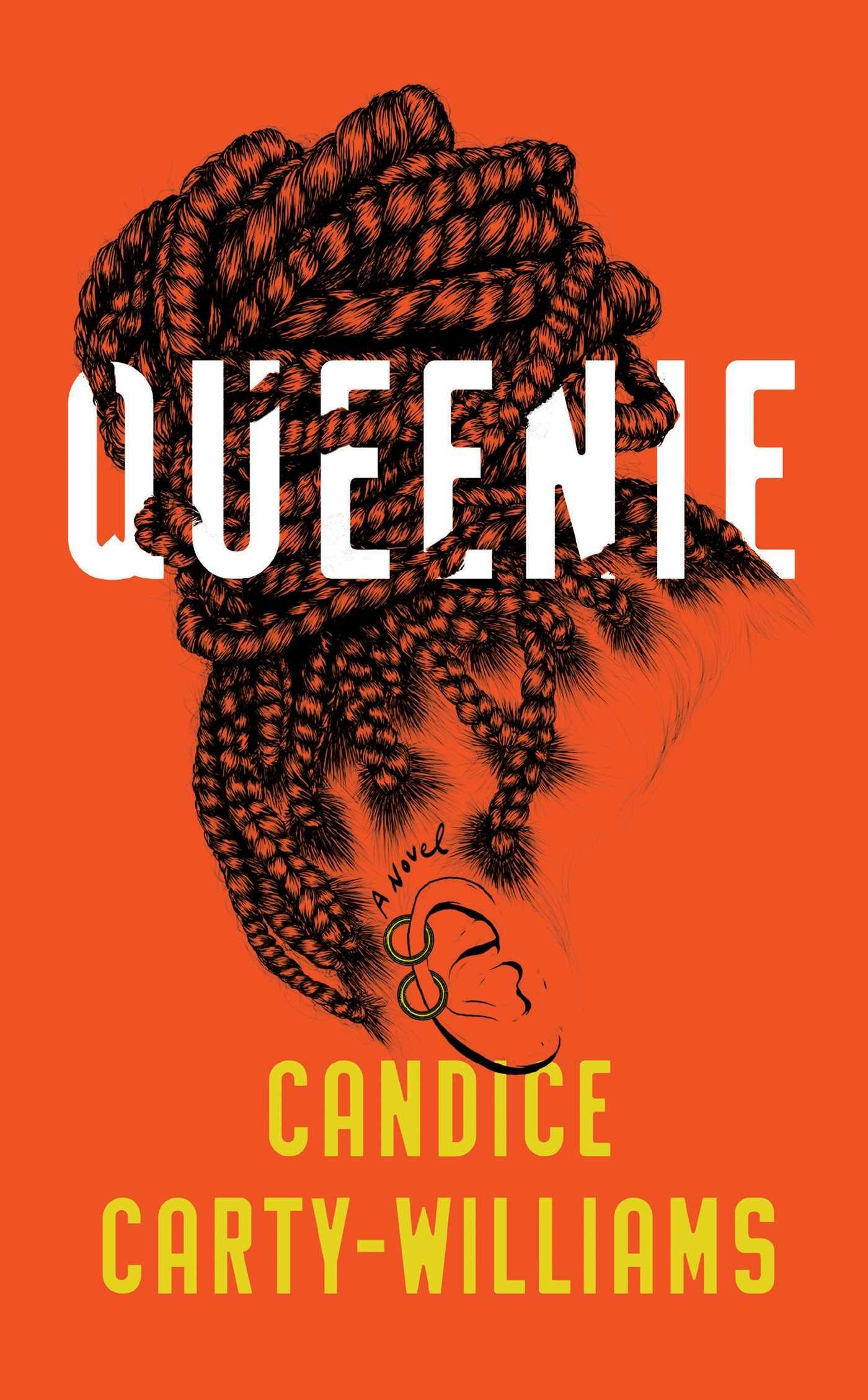 Orange cover with a Black woman's hair twists in a bun