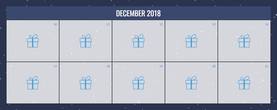 #CXGivesBack calendar