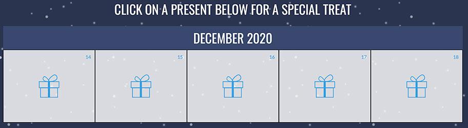 CX Gives Back 2020 calendar