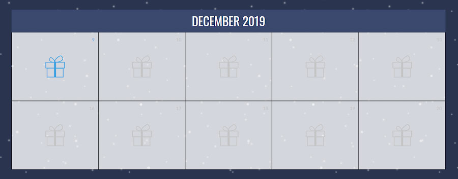 2019 CX Gives Back Calendar