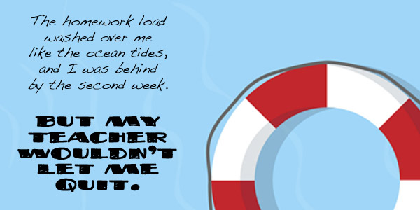 life preserver with saying