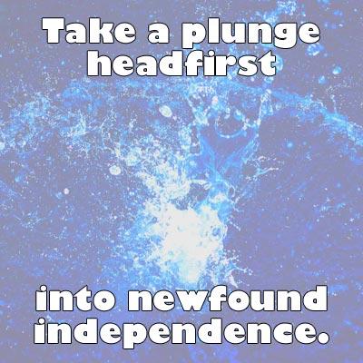 Take a plunge