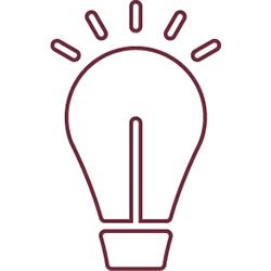 light bulb badge